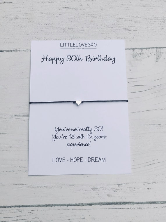 30th Birthday Gift30th Card30th Gift For