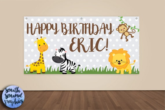 Safari Animals Zoo Background for Birthday Photography 7x5 Adventured Jungle Animals Baby Shower Backdrop Vinyl African Wild World Happy Birthday Backgrounds for Cake Table Decor