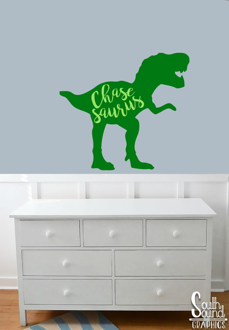 Fabric Wall Decal for Boys Nursery and Kids Rooms Dinosaur | Etsy