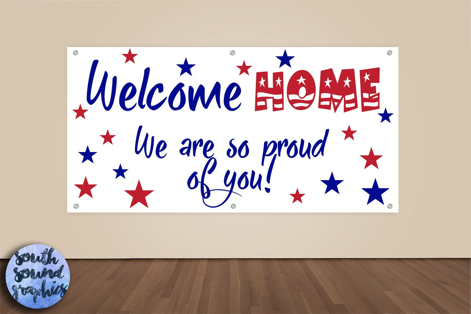 welcome home military banner military homecoming sign