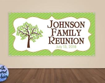 Family Reunion Banner - Family Reunion Photo Backdrop - Family Reunion Sign - Vinyl Sign - Family Tree - Family Sign - Tree Reunion Banner