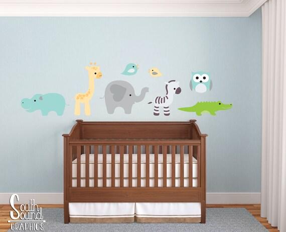 Sticker Mural tissu ensemble pour chambre de bébé et enfants ...