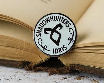 Shadowhunters hard enamel pin- the mortal instruments, stele, glow in the dark, idris, fandom pin, literary pin, runes, bookworm, nephilim