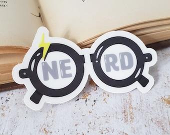 Magic nerd sticker - clear vinyl sticker, HP, wizardry, witchcraft