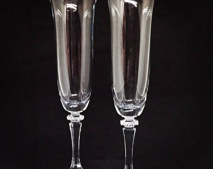 Kleopatra Crystal Wedding Flutes • FREE SHIPPING