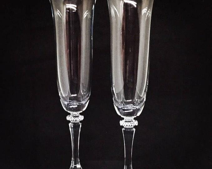 Kleopatra Crystal Wedding Flutes • FREE SHIPPING