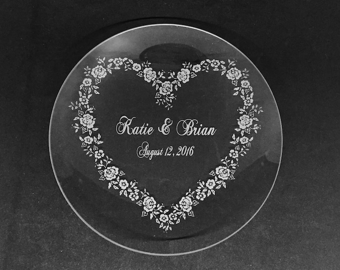 "Personalized 10"" Crystal Plate • FREE SHIPPING"