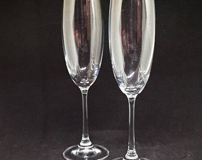 European Gourmet Crystal Wedding Flutes • FREE SHIPPING