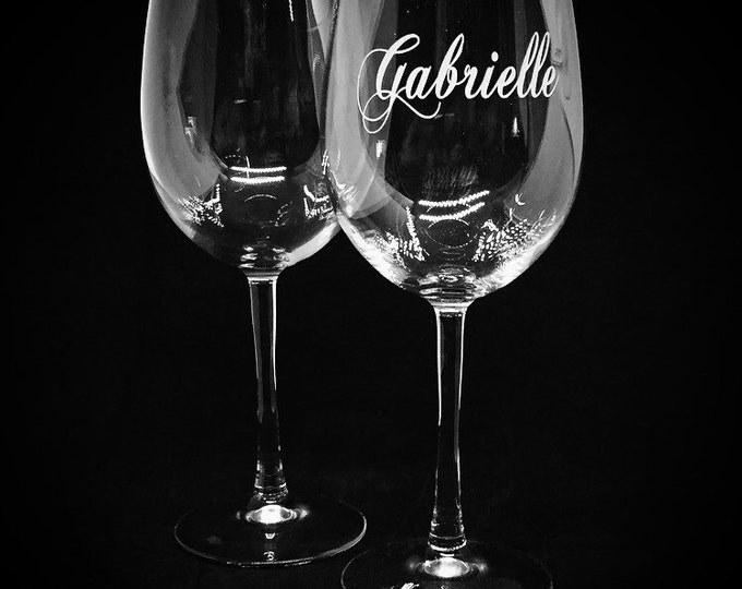 Set of Two Eloquent Wine Glasses • FREE SHIPPING