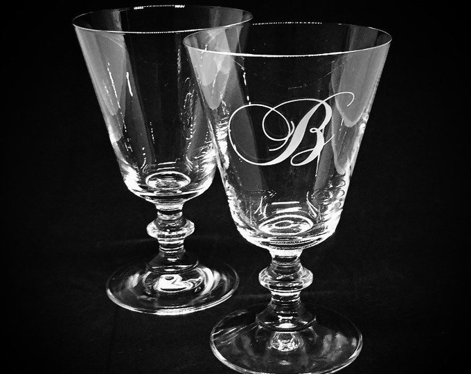 Modern French Wine Glasses Set of two • FREE SHIPPING