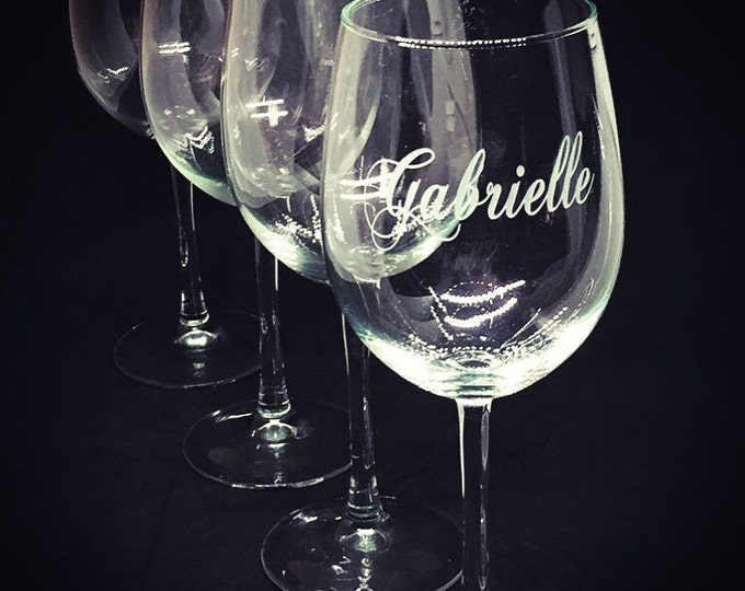 Set of Four Eloquent Wine Glasses