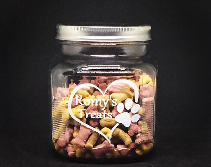 Personalized Pet Treat Jar • Ready to Ship •   FREE SHIPPING