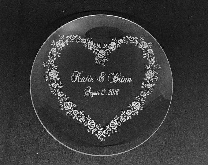 """Personalized 10"""" Crystal Plate • FREE SHIPPING"""