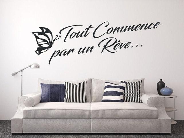 Muur Sticker muur tekst sticker sticker Frans decoratie kamer | Etsy