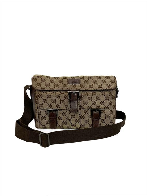 Authentic Gucci Monogram Shoulder Bag Crossbody Ba