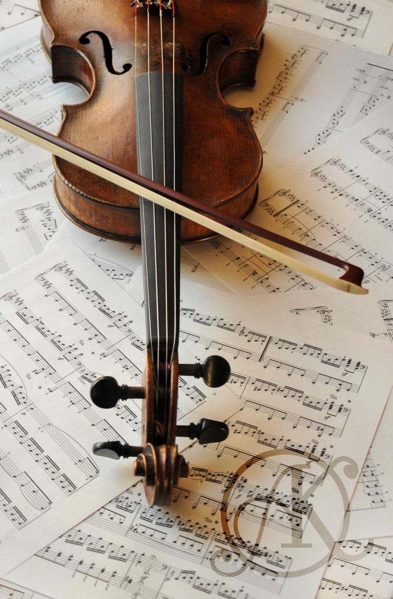 Old Violin & Sheet Music