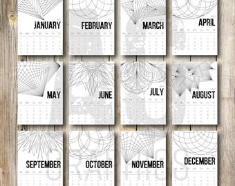 2017 Geometric Desk Calendar
