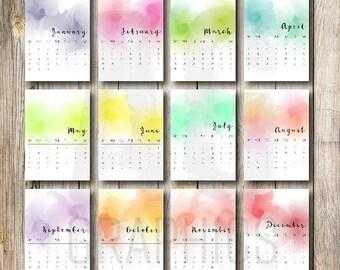 2017 Abstract Desk Calendar