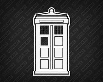 DOCTOR WHO TARDIS Vinyl Decal Sticker For Macbook Laptop Tablet Phone Car Window Glass Windshield Bumper / Free Shipping