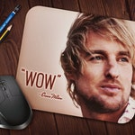 "Owen Wilson ""WOW"" Meme Mouse Pad, Neoprene Mousepad"