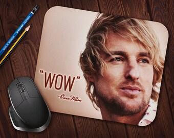 "Owen Wilson ""WOW"" Meme Mouse Pad, Neoprene Mousepad *Free Domestic Shipping*"