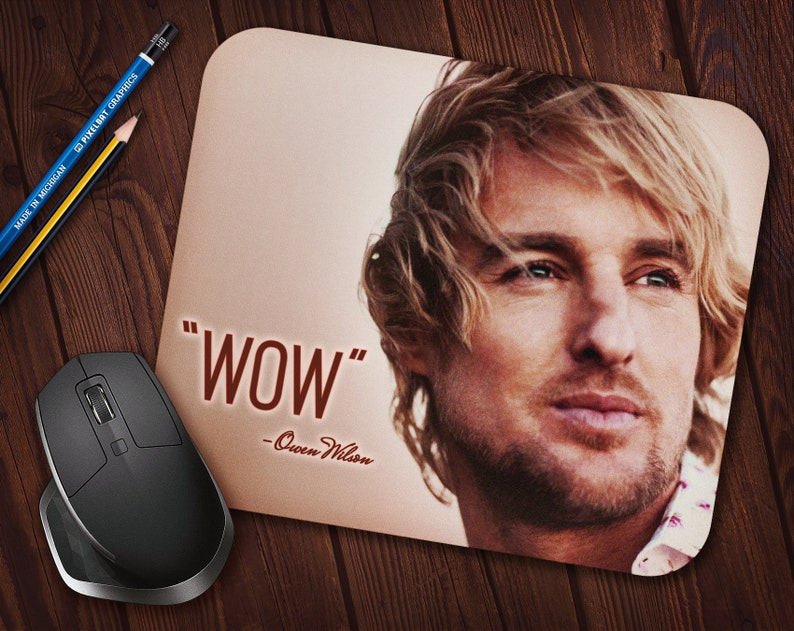 Owen Wilson WOW Meme Mouse Pad Neoprene Mousepad image 0