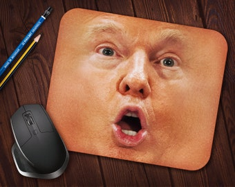 Worst President Ever Donald Trump Face Meme Mouse Pad, Neoprene Mousepad *Free Domestic Shipping*