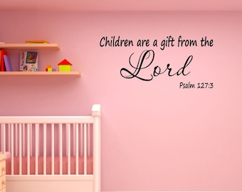 Children Of The Most High Bible Verse Wall Sticker WS-17704