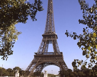 Eiffel Tower Paris Poster Print