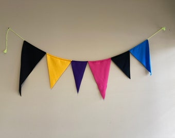 Colorful Bunting Fabric Garland String Nursery Indoor Outdoor Pool Birthday Parties