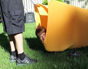 Indoor/ Outdoor TUNNEL Therapeutic Sensory Compression Tunnel for kids with Autism and ADHD with 2 or 3 handles each side