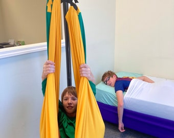 TWIN Size COMBO: 1x Double layered Autistic Therapy Compression Swing holds up to 165 pounds + 1 TWIN Size Sensory Compression Bed Sheet