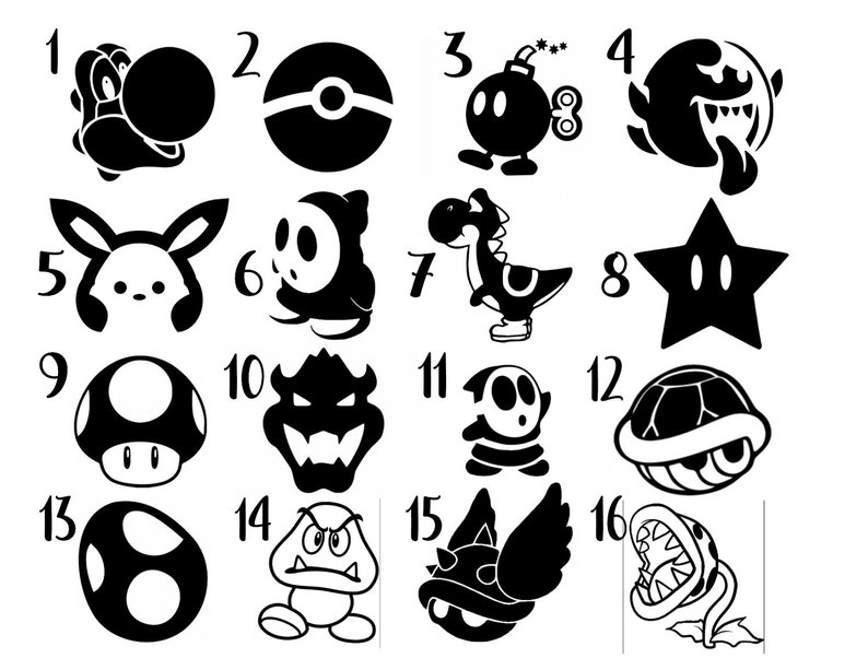 Nintendo Assorted Vinyl Decal Sticker