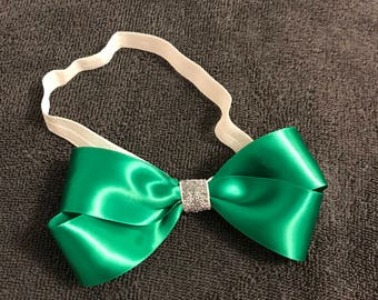 St Patrick's Day Green Bow