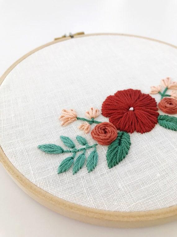 Custom Embroidery/Floral/Wedding Gift/Botanical/Embroidery/Modern  Embroidery/Home Decor/Nursery/Wedding/Bridal Shower/Custom/Boho Decor