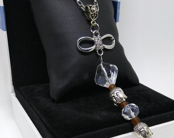 necklace, namaste, Crystal, gift, stainless steel chain