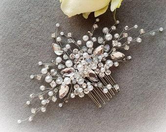 Wedding hair accessories Crystal bridal hair comb Bridal hair piece Gold  wedding headpiece Bridal hair pieces Bridal hair pins Wedding tiara 15fd07e5f71d