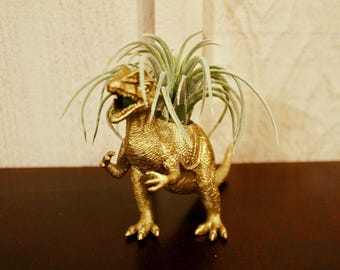 Golden Dinosaur Planter, Dilophosaurus
