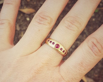 Ruby Ring, Gold Engagement Ring, Alternative Engagement Ring, Gold Ring for Women, Gold Promise Ring, 18K Gold Ring, Solid Gold Ring, July