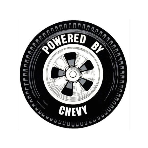 Power By GMC Wheel Vintage Hot Rat Rod Drag Racing Decal Sticker