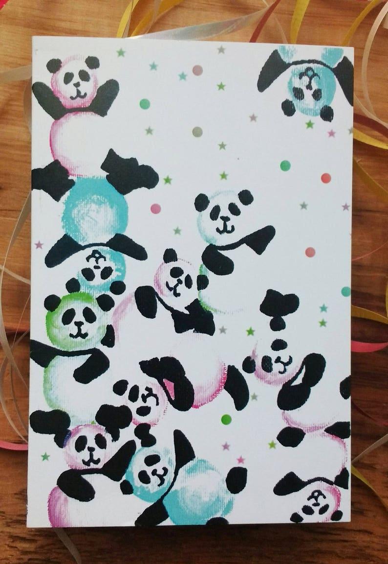 Verjaardagskaart Panda Card Wenskaarten Verjaardag Van De Etsy