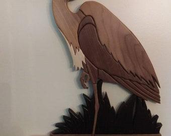 Intarsia Great Blue Heron