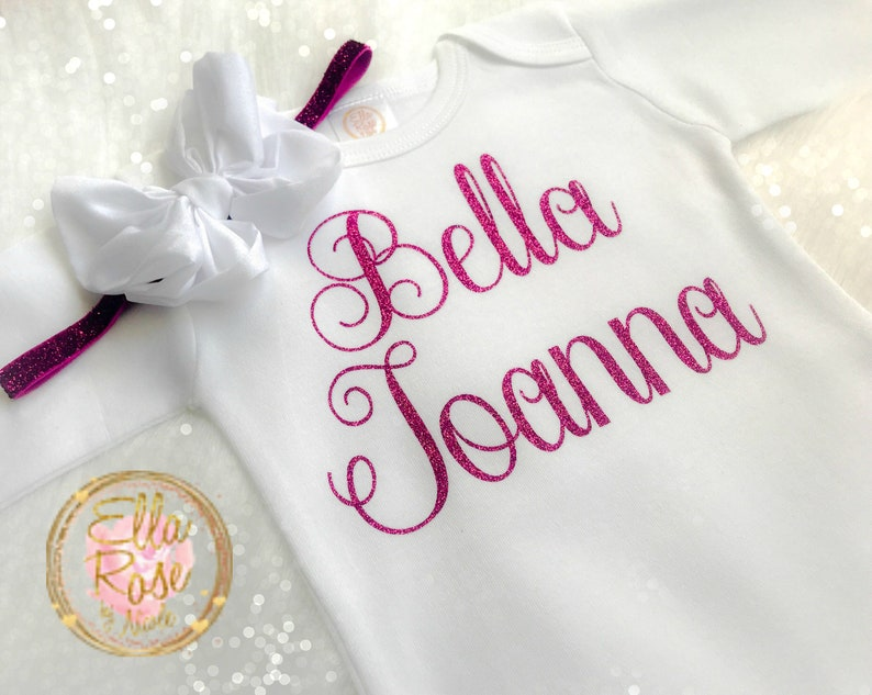 b495146124ab Italian Baby Girl Outfit   Personalized Bella Bambina Outfit