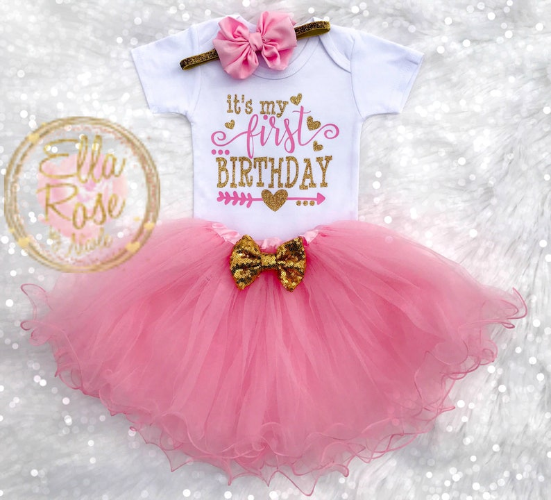 88a8146ab9dbe First Birthday Outfit Girl / 1st Birthday Girl Outfit /   Etsy