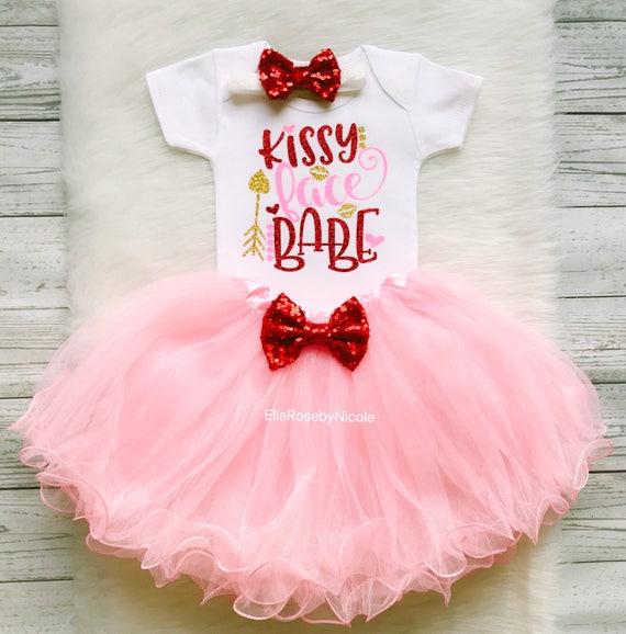 Little Miss Valentine tutu set,Valentines Shirt,baby valentine outfit,baby girl valentine,valentine tutu,Shirt,pink,valentines,red hearts