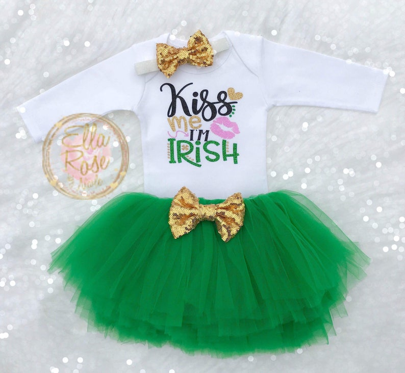 3249dc4b234f St. Patrick's Day Outfit Girl / Kiss Me I'm Irish Baby | Etsy