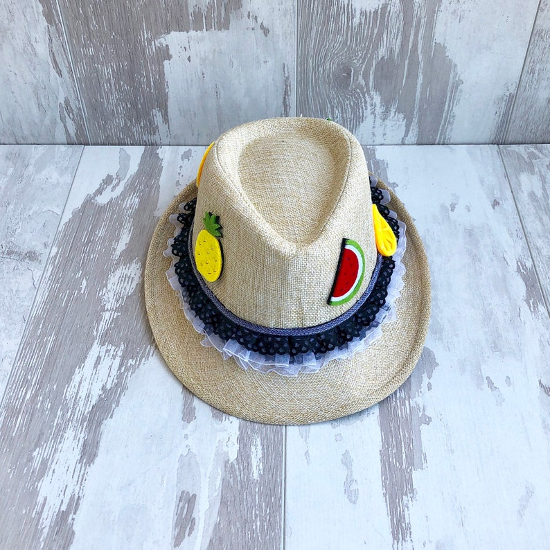 Beach Hat Fruitopia Fashion Trends,kids Fedora hat Children Hats Summer Hats Summer Outfits Embellished kids hats Fashion Accessories