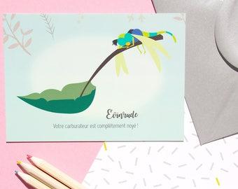 "Postcard ""Evinrude"" - Dragonfly card"