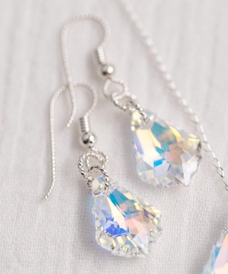 d79cb3e27468 Sterling Silver Aurora Borealis Baroque Swarovski Crystal