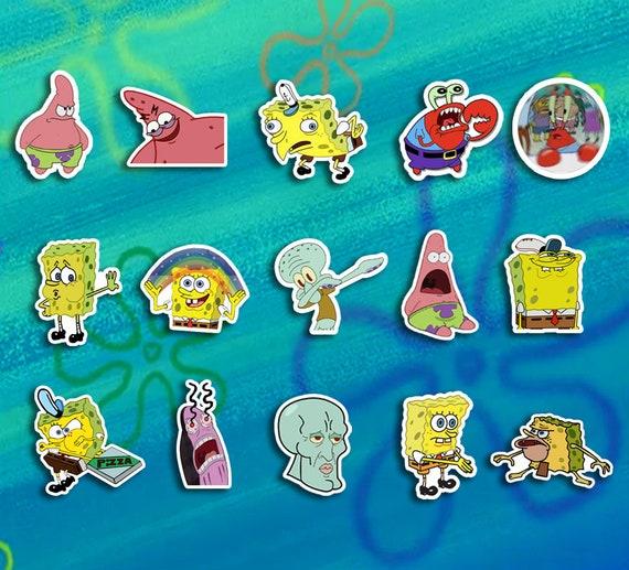 Phone Stickers Spongebob Meme Sticker Bundle Laptop Stickers Meme Stickers Tumblr Stickers